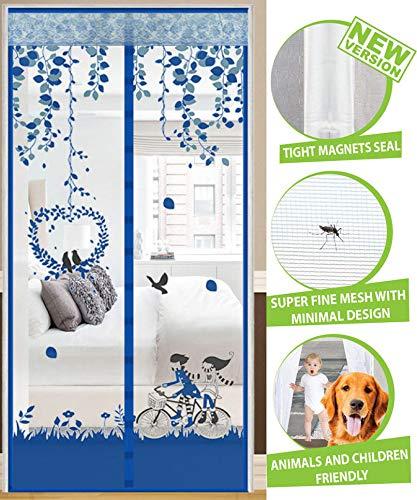 lilili Fliegengitter-Tür-Vorhang-magnetisches Moskitonetz Mehrfache Größen Magnet-Fliegen-Schirm-Tür-Moskitos Anti-Insekten-magnetische Schirm-Tür,F-90 * 205