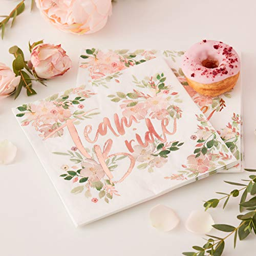 Ginger Ray- Hen Party Paper Napkins Paquete, Multicolor, Pacl of 16 (FH-205)