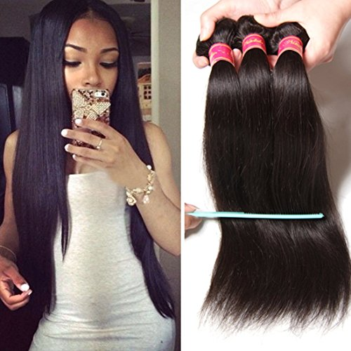 Nadula 8A Brazilian Straight Hair Weaves 4pcs/lot Virgin Remy Cheap Human Hair Bundles Natural Color (24 26 28 30)