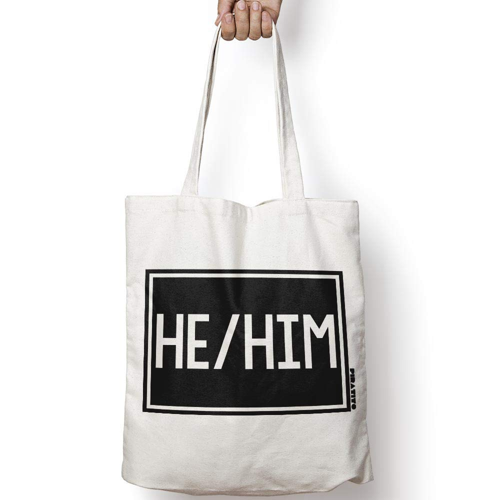 HE HIM Animer and price revision natural cotton Soldering canvas tote bag NATURAL OR IN ac for BLACK