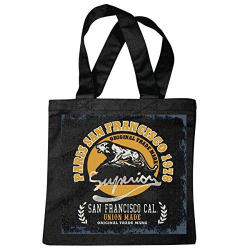 Reifen-Markt sac à bandoulière PARIS SAN FRANCISCO1978 USA AMÉRIQUE LOS ANGELES CALIFORNIA BROOKLYN NEW YORK CITY MANHATTAN RUGBY BASEBALL FOOTBALL FOOTBALL Sac école Turnbeutel en noir