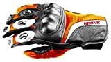 NERVE 31140327_06 Guanti Protettivo Kq11 per Moto Scooter Pelle, Nero/Arancione, 2XL/12