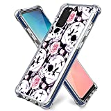 Skull Case for Galaxy S20,Gifun Hard PC+ TPU Bumper Air Cushion Design Protective Case for Samsung Galaxy S20 Release - Skeleton with Rose