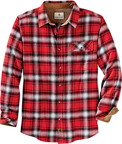 Legendary Whitetails Men's Buck Camp Flannels Racing Red Plaid X-Large
