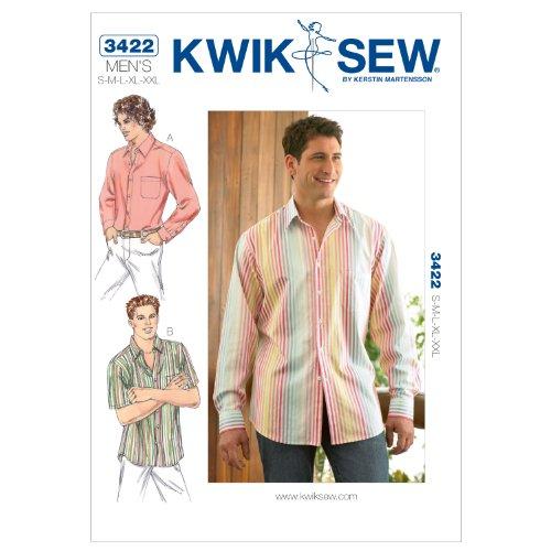 KWIK SEW Schnittmuster 3422 Hemd Gr. S-XXL