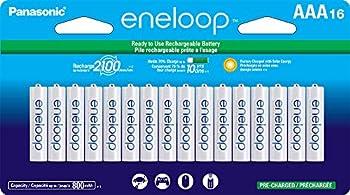 16-Pack Panasonic eneloop AAA 2100 Cycle Ni-MH Rechargeable Batteries