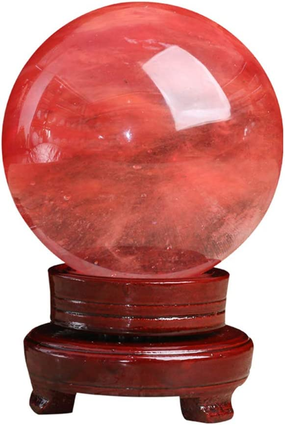 GWLTV Natural Crystal Melting Ball Sc Healing Luxury goods Max 73% OFF Chakra Red