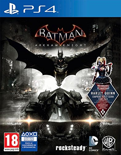 Warner Bros Batman: Arkham Knight, PS4 Básico PlayStation 4 Inglés, Francés vídeo - Juego (PS4, PlayStation 4, Acción / Aventura, M (Maduro))