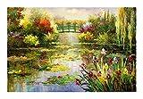 Puzzles Pintura al óleo del Paisaje de Monet - Water Lily - Adultos 1000/1500 Piezas del Rompecabezas de Madera, Juguetes educativos de los niños Regalo de descompresión (Size : 1000pcs)
