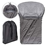 Zamboo - Saco de invierno DELUXE con forro polar térmico, capucha y bolsa para...