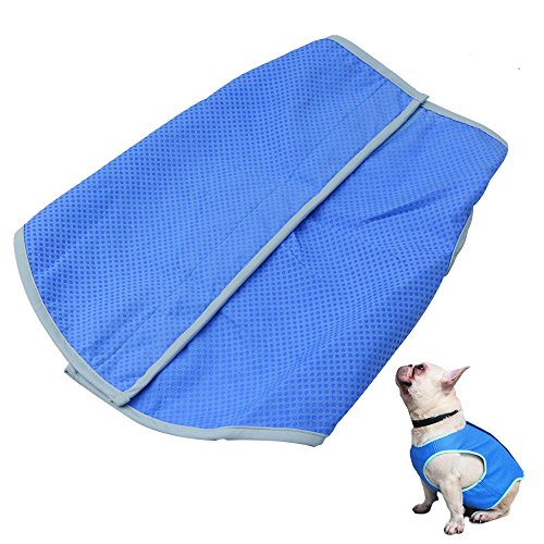 Petilleur Dog Cooling Vest Pet Cooling Coat Dog Mesh Vest for Small and Medium Dogs (L)