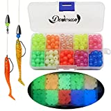 Dovesun Fishing Beads Assorted Beads Fishing Bait Eggs 10 Colors A-Glow in Dark 0.32in(250pcs)