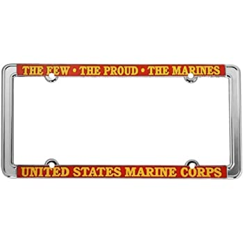 Semper Fidelis US Marine Corps Steel License Plate Frame Tag Holder STHANCAT OF TAMPA