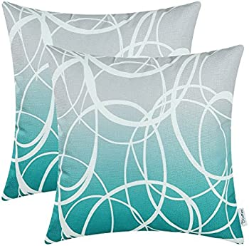 2-Pack CaliTime Soft Canvas Throw Pillow Covers Case
