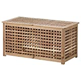 IKEA ASIA HOL Mesa de almacenamiento, Acacia, 38.6 x 19.7 x 19.7 pulgadas