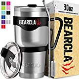 BEARCLAW Tumbler With Straw - Insulated Stainless Steel Coffee Mug Travel Cup For Water - 2 Leak...