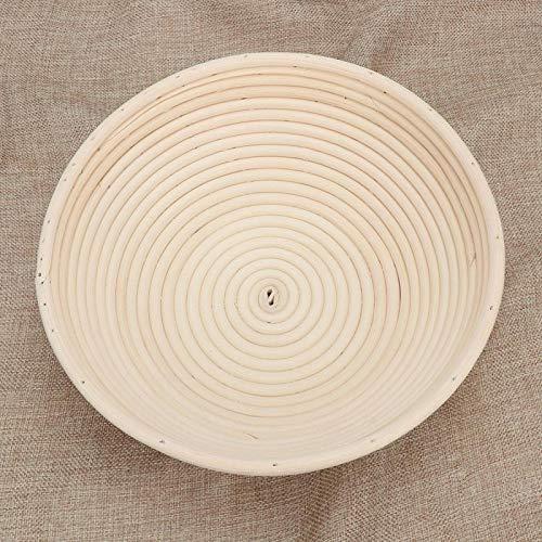 KUIDAMOS Bol de ratán para Pan, sin astillas, a Prueba de Pan, bastón de ratán Natural, a Prueba de Pan, Productos Hechos a Mano para Amantes del Pan, para panaderos Profesionales y(18X9)
