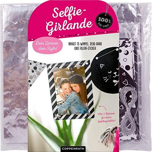 Dein Zimmer - dein Style! Selfie-Girlande: Inhalt: 15 Wimpel, Deko-Band und Folien-Sticker (100% selbst gemacht)