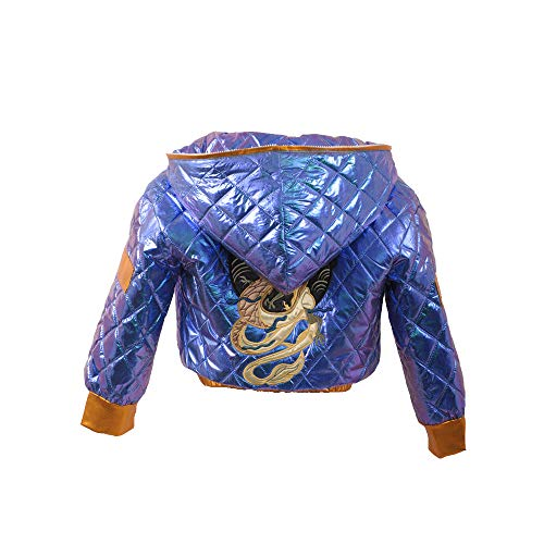 Cos-Love LOL KDA Akali Cosplay Jacket Women High Waist Hooded Quilted Jacket Halloween Party Costume Purple
