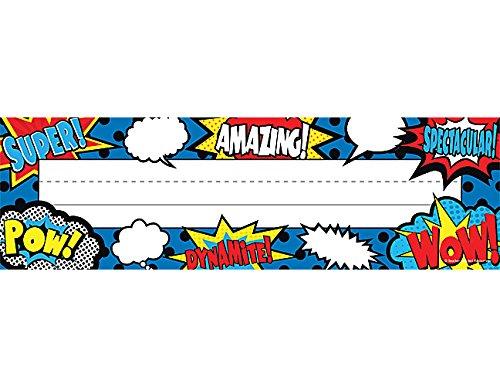 Teacher Created Resources Superhero Flat Name Plates (5588)