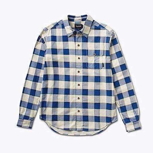 barato en alta calidad Diamond Supply Co. Vacaciones franela camisa de cuadros azul azul azul marino  forma única