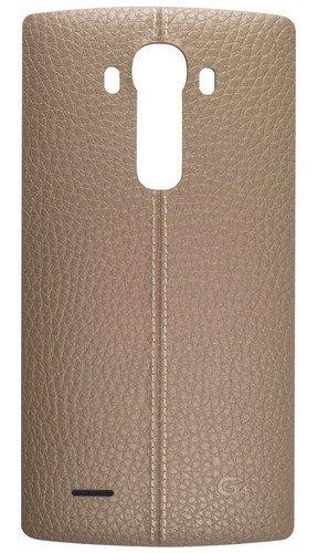 LG CPR-110AGEUBG Cover in Pelle per LG G4, Beige