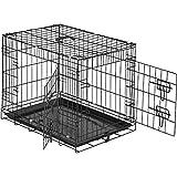 TecTake Cage de Transport pour Chien-Box grillagé | 2 Grandes Portes équipées de verrous | Pliant - diverses Tailles au Choix (60 x 44 x 51 cm | no. 402293)