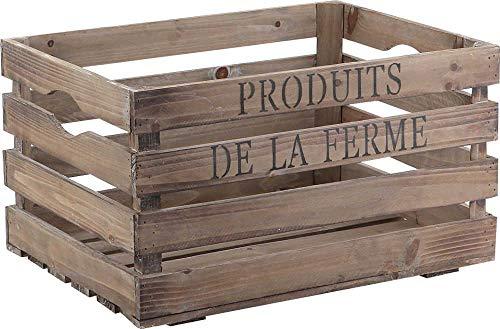 Cageot de rangement en bois Effet rétro/vieilli