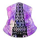 out Couvre-visage, Bandana pour le visage coupe-vent Effiel Tower Rainbow, cache-cou mince, 26X30Cm