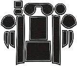 Alfombras para Consola Central Portavasos para Citroen C4 AirCross 2012~2017, alfombrilla de almacenamiento Alfombrillas Antideslizantes de Goma Coche accesorios de interior