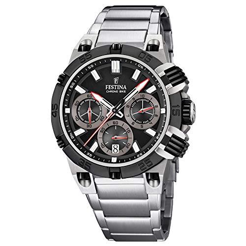 Festina Herren Chronograph Quarz Uhr mit Edelstahl Armband F16775/E