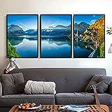 Kunstplakat Poster Dolomiten Lake Village Naturlandschaft