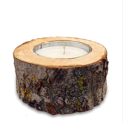 Velas rústicas para exteriores, velas de jardín, aprox. 12 horas de combustión, de madera natural, respetuoso con el medio ambiente para reciclar/fuego de mesa XXL