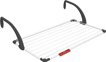 Vileda Sunset Balkon Çelik Çamaşır Askılığı, Plastik kollar, Beyaz, 4 x 55.5 x 107 cm