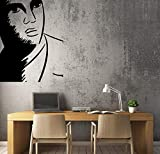 Wall Stickers Decal for Living Room Decal Elvis Presley Artistic Portrait Singer Unique Wall Peel and Stick Decorative Self Adhesive Christmas Decoration for Home Nursery 29.5 Inch