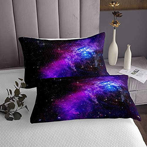 Loussiesd Galaxy Tapestry Outer Space Wall Hanging Glitter Wall Blanket for Kids Adult Modern Comfortable Modern Medium 51x59