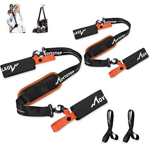 MOVTOTOP Ski Strap and Pole Carrier with Ski Boot Strap