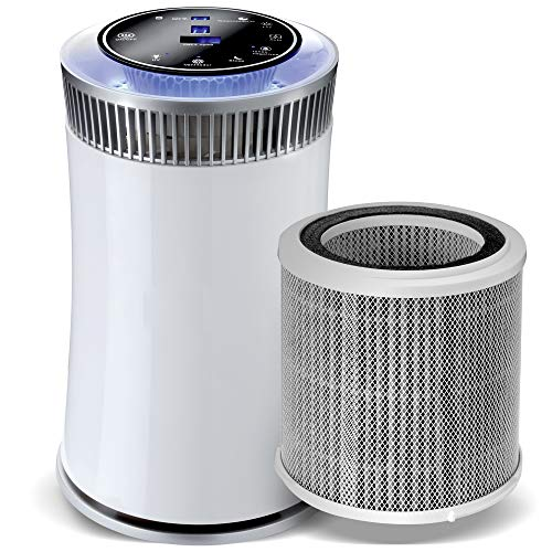 gridinlux. Purificador de Aire de Alta Eficiencia. 4 Sistemas de filtrado. Indicador de Calidad de Aire. Temporizador programable
