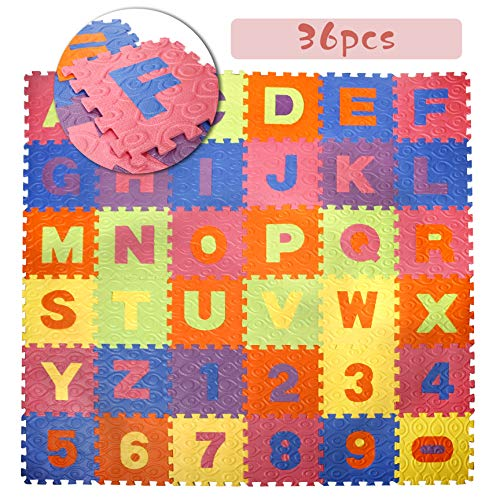 CCLIFE 36 Piezas Alfombra Puzzle para Niños Goma Espuma Sua