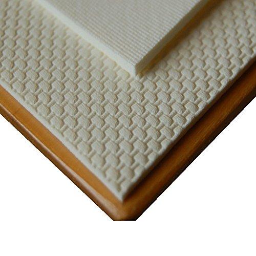 ODERTEX Premium Tischschoner Tischschutz antirutsch Unterlage eckig weiß wasserabweisend Tischdeckenunterlage. 100x300 cm eckig