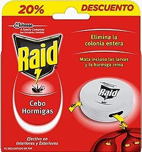 Raid ® Cebos - Trampa antihormigas, elimina la colonia de hormigas entera, efectivo en Interiores y Exteriores