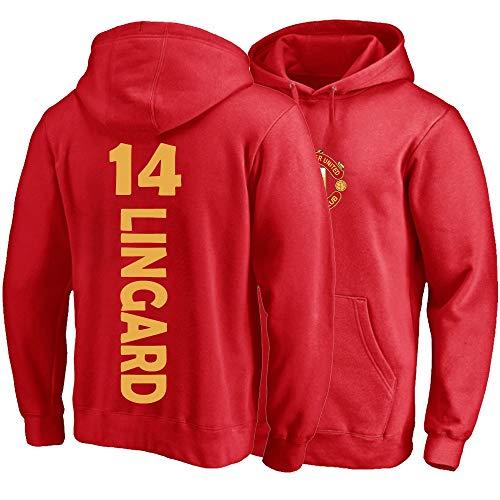 Sport Hoodie Jesse Lingard # 14 Männer Frauen Kapuze Pullover Trikots Lose Sweatshirts Winterjacke S-3XL (Color : Red, Size : XX-L)