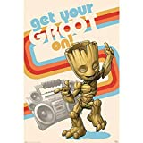 Guardians of the Galaxy Get Your Groot On Unisex Poster