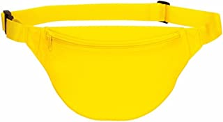 Fanny pack, BuyAgain Unisex 2 Zipper Quick Release Buckle Travel Sport Running Waist Fanny Pack - Yellow