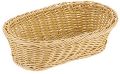 Paderno World Cuisine Reinforced Oval Polyrattan Bread Basket, 11-Inch by 6-1/4-Inch