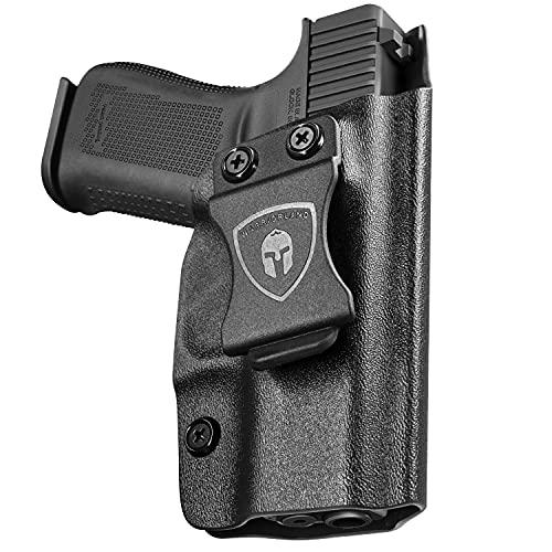 43 Holster, 43X Holster, IWB KYDEX Holster Fit: Glock 43 / Glock 43X Pistols, Inside Waistband Holster Concealed Carry for Men / Women, Full Cover Trigger Button, Adj. Cant & Retention