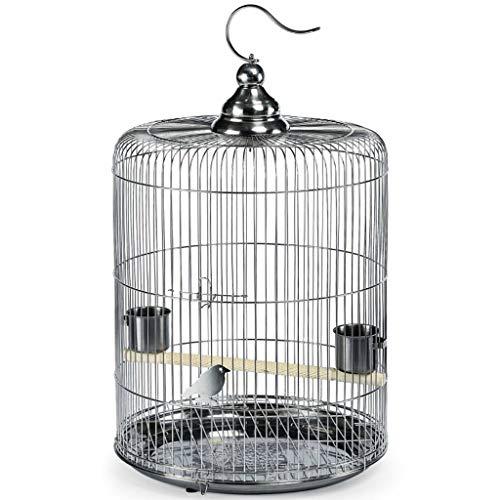 Ronde Vogelkooi Duurzame RVS Plaat Vlucht Kooi Vogel Fokken Kooi Vogelbad Kooi Transparant Vogelkoffer Vogelhuisdier Vogeldrager, Geschikt voor Papegaaien/Kleine Vogels/Parakeets