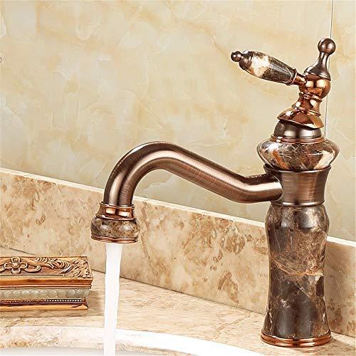 YUQIYU Grifo cascata por rubinetto Acquafredda e calda rubinetto Bagno Antico rubinetto Giada Giada Nero, rubinetto bidé, Desgin Moderno rubinetto