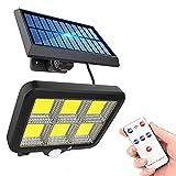 Luces solares para jardín Luz solar de 150 LED, con sensor de...
