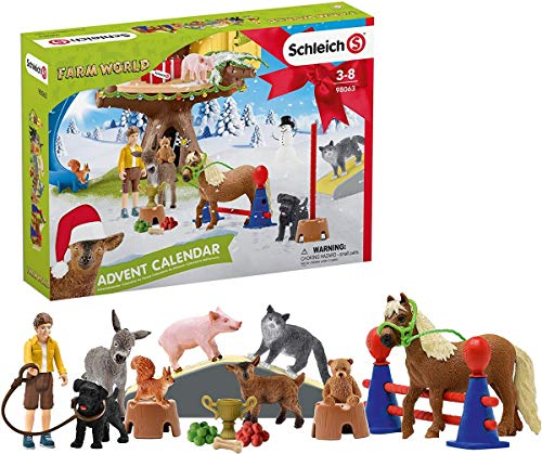 Schleich Farm World 2020 24-Piece Advent Calendar with Farm Animal Toys for Toddlers and Kids Ages 3-8